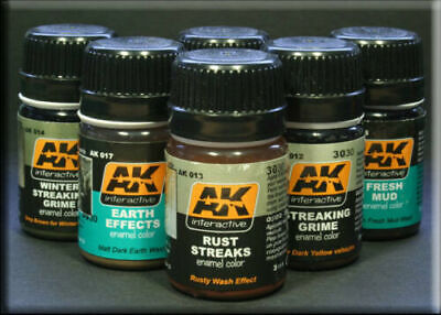 Ak Interactive Full Range Weathering Washes Filters Effects Combined Shipping • 4.49£
