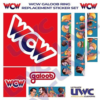 WCW WWF Galoob Ring Custom/Replacement Sticker Set • 13.99£