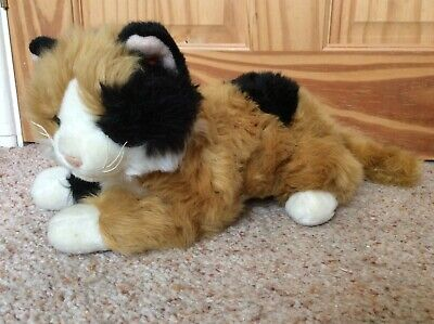 TY Carley The Calico Cat - 2000 - 30cm Nose To Base Of Tail • 20£