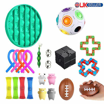 Fidget Toys Set 22 Pack Tools Bundle Stress Relief Hand Toys Kids Adults UK • 15.99£