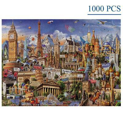 1000 Pieces Jigsaw Puzzles World Architecture For Adults Kids Game Toys Artwork  • 13.07£