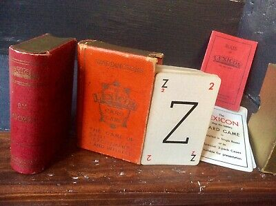 Pair Antique Vintage 1930s Lexicon By ATOZED Card Game,Cased Deck,Original,Old • 5£