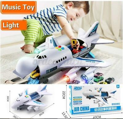 UK Children's Toy Aircraft Large Size Passenger Plane Kids Air Freighter Toy Car • 22.79£