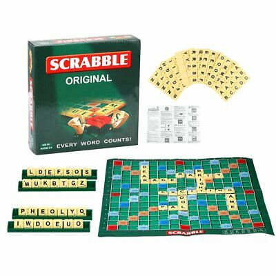 Original Scrabble Board Game Family Kids Adults Educational Toys Puzzle Game GBR • 6.94£