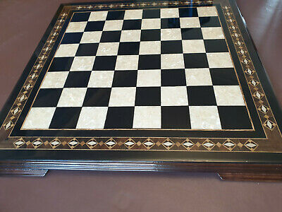 CHESS BOARD  MOSAIC  With Exquisite Design 50mmsquares (no Chess Pieces Included • 105.52£