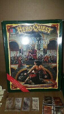 Heroquest Expansion Return Of The Witch Lord Complete Boxed • 75£
