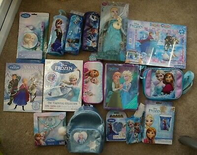 Very Large Bundle Lot Of Disney Frozen Items Bags Doll Books. All New And Unused • 40£