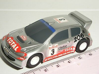 12V MICRO Scalextric - Peugeot 206 WRC Silver - NEW • 9.99£