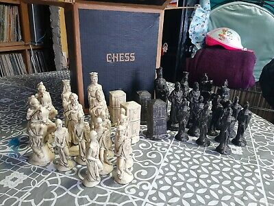 Studio Anne Carlton 15106 King Arthur And Camelot Ivory And Black Chess Set • 80£