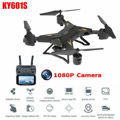 KY601S Foldable 2.4G RC Drone X Pro WiFi 5MP 1080P HD Camera 6-axle Quadcopter • 47.99£