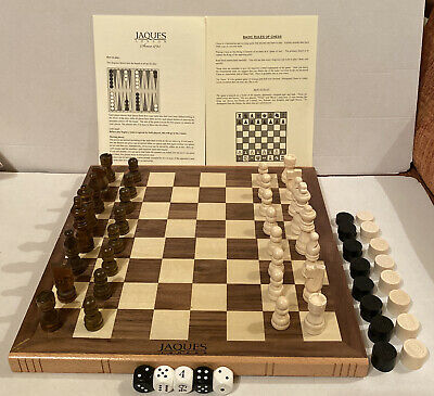 Jacques Of London Wooden Chess Set - Folding Board • 59.99£