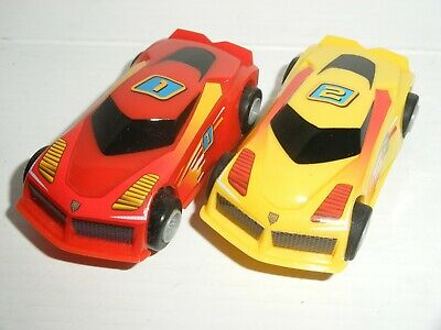 9V MICRO Scalextric - Pair Of Hyper Cars - Exc. Cdn. (New Pick-Ups) • 12.99£
