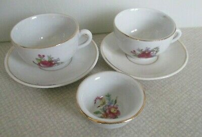 Children's Toy Cups & Saucers & Sugar Bowl GDR  • 0.99£