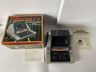 Vintage Tabletop Grandstand Firefox F-7 VFD 1983 - Boxed • 65£