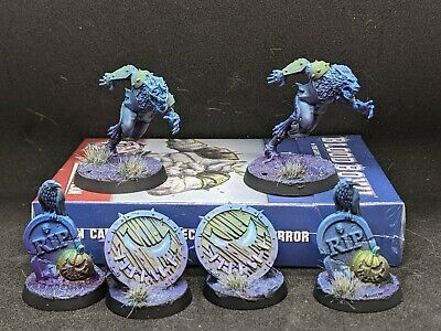 Blood Bowl Team Painted Necromantic Horrors, With Dice And Cards  • 140£