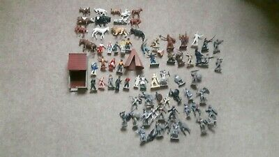 A Large Job Lot Of Vintage Toy Soldiers And Farm Animals By Various Makers. • 4.20£