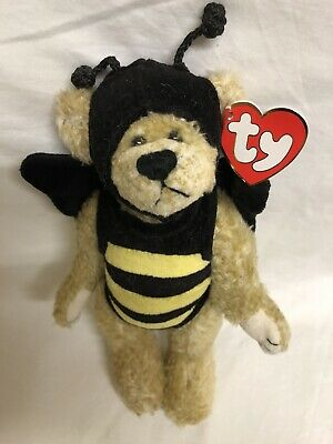 Beezee Bear Ty Attic Treasures Bee Articulated Arms Legs New With Tags • 7.99£