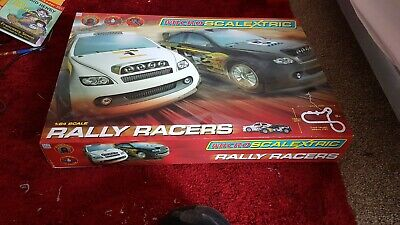 Micro Scalextric 1:64 Scale Rally Racers Set Complete Boxed Good Condition • 30£