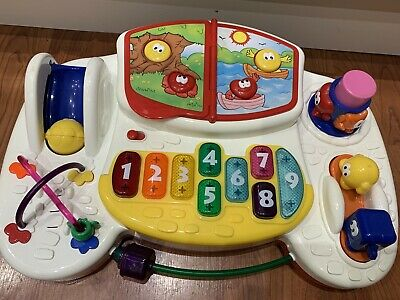 Baby Play And Learn Activity Table Top Music And Sounds Good Condition Sanitised • 1.48£
