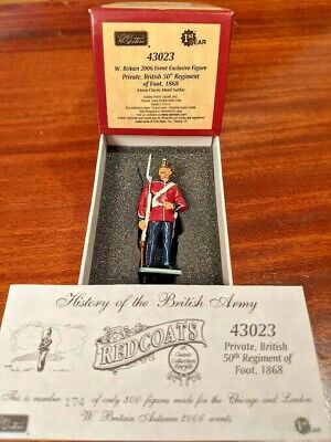 Britains 43023 Redcoats - Private 50th Regiment Of Foot (Limited Edition) • 50£