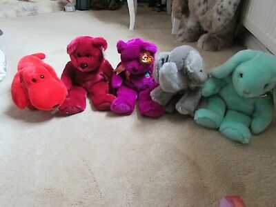 X5 Vintage - TY Beanie Buddies - Mint Condition (large Beanie Babies) • 18.99£