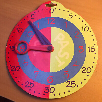 Elc ~ Early Learing Centre ~ Card Clockface ~ Tell The Time ~ Home Learning • 3.99£