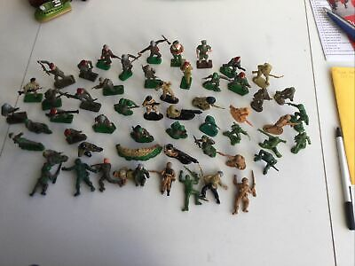 Vintage (1960's) Plastic Soldiers ( Over 50 ) In Various Poses • 8£