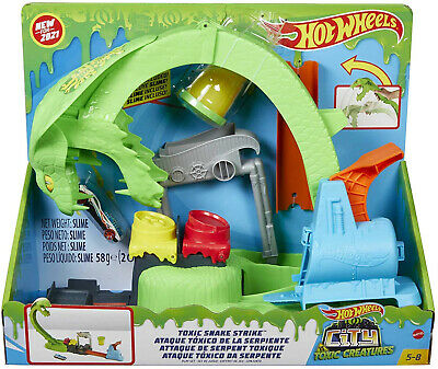 Hot Wheels City Toxic Snake Strike Playset • 26.99£