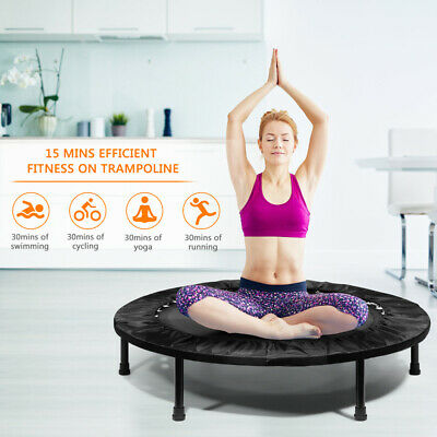Mini Trampoline 40  Foldable Fitness Bouncer Indoor Fitness Exercise Workout UK • 47.98£