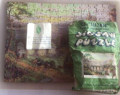 Rare Vintage Sujan Mountain Beauty Jigsaw. Complete. Includes Compliments Slip • 7.50£