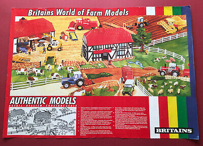 Scarce 1980's Britains World Of Farm Models Advertising Promotion Poster • 39.99£