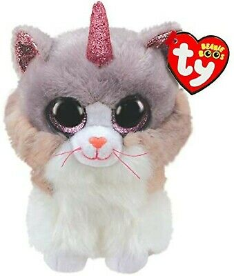 Official Ty Beanie Ty Beanie Boos Asher Cat W/horn Buddy 9  Soft Toy 36477 • 9.85£