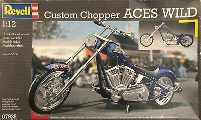 1/12 Scale Revell Custom Chopper ACES WILD Motorcycle Model Kit • 29.99£