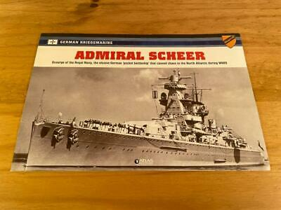 Atlas Editions Legendary Warships Of Wwii, Admiral Scheer Booklet Only • 7.06£