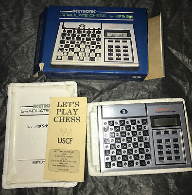 Vintage Acetronic Graduate Chess By Scicys Retro Game Complete QUALITY CONDITION • 24.99£