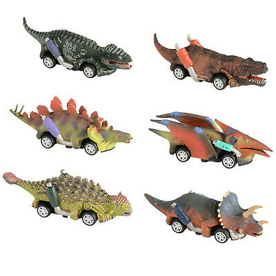 6pcs Cars Toys Pull Back Dinosaur 6 Pack Dinosaur Roadster Party Favors Game Toy • 10.39£