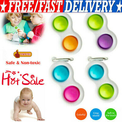 Baby Simple Dimple Sensory Toys--Silicone Flipping Board Brain Teasers Best Gift • 5.39£