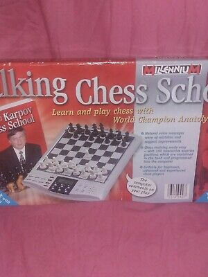 TALKING CHESS SCHOOL WITH ANATOLY KARPOV - ELECTRONIC LEARN AND PLAY CHESS Teach • 79.99£