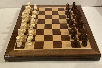 Jaques Of London Wooden Chess Set - Folding Board • 55£