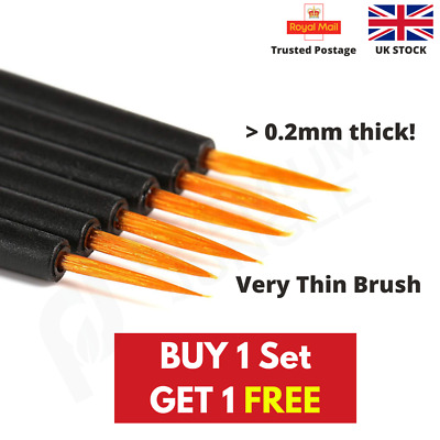 Miniature Model Painting Brushes Extra Fine Miniatures Modellers Warhammer • 2.99£