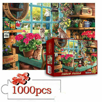 Cute Cats 1000 Piece Jigsaw Puzzles For Adults Kids Learning Education UK • 9.25£