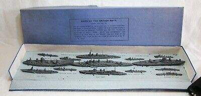 Vintage Pre-War Dinky Set No.50 'Ships Of The British Navy' - Boxed & Complete • 175£