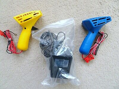 Vintage Scalextric C265 Hand Throttle Controllers X 2 Yellow And Blue Plus C912  • 8.99£