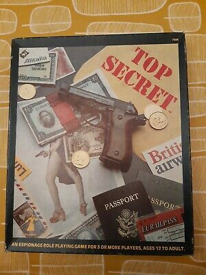 Top Secret - TSR Roleplaying Game - 2nd Ed (1980) • 12.50£