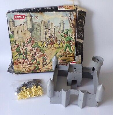 Vintage Airfix Robin Hood Sherwood Castle Playset Boxed 1/72 Plastic Toy Soldier • 50£
