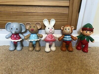 Elc Toybox Rosie Rabbit And Friends Click Clack Heads And Legs • 4.99£