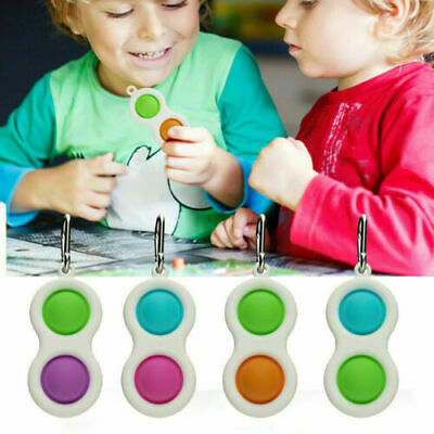 Baby Simple Dimple Sensory Toys Silicone Flipping Board 0-2 Years Old Gift Fast! • 2.99£