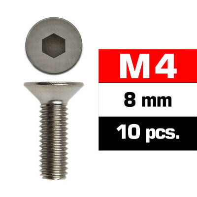 Ultimate RC Countersunk Head Screw M4x8mm 12.9 (10) Hexagon • 2.27£