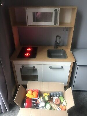 Ikea Childrens Play Kitchen & Till, Utensils & Wooden Food • 20£