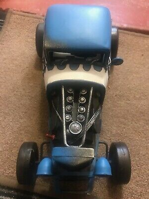 Vintage 'Hotrod' Tinplate Car. Nice And Large • 45£